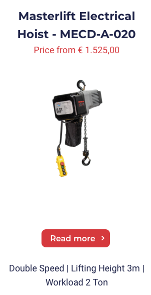 Masterlift Electrical Chain Hoist MECD-A-020
